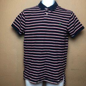 Ralph Lauren Striped Polo Custom Fit Shirt Sz M